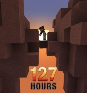 127 Hours - Movie Posters in Minecraft
