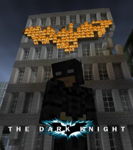 The Dark Knight - Movie Posters in Minecraft