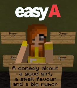 Easy A - Movie Posters in Minecraft