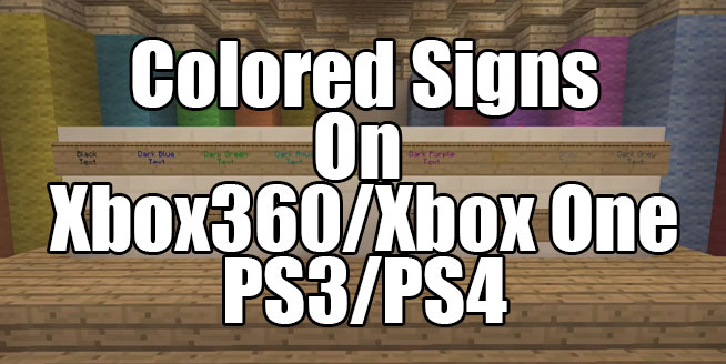 Tutorial – Secret Colored Signs For Consoles   Gearcraft