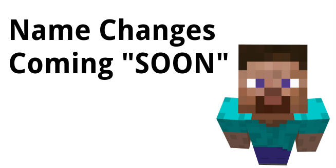 Name changes minecraft