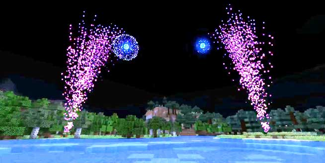 how to make cool fireworks in minecraft