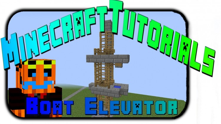 Minecraft Tutorials how to make a Elevator using boats - YouTube