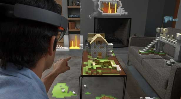 Minecraft Through the HoloLens