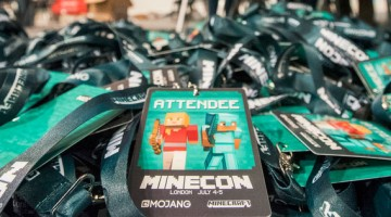 Minecon 2015 Lanyards w/ Pass