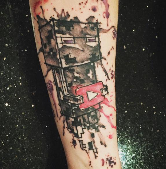 Dan's Minecraft tattoo via Instagram