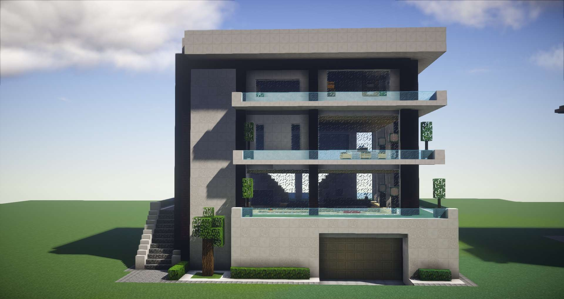 Modern luxury house a gearcraft build gearcraft for Luxury house builder