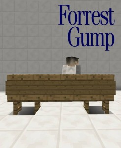 Forest Gump - Movie Posters in Minecraft
