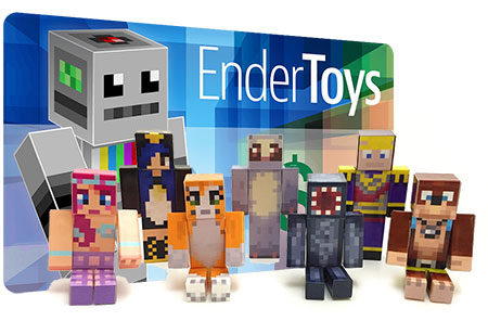 Custom Skin Endertoy Action Figure GiftCard