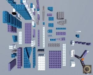 Deconstructed LEGO Plane by BlockWorks