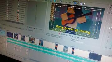 Editing Go Mining - Animated Music Video