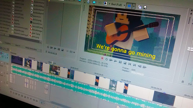 Editing Go Mining - Animated Music Video