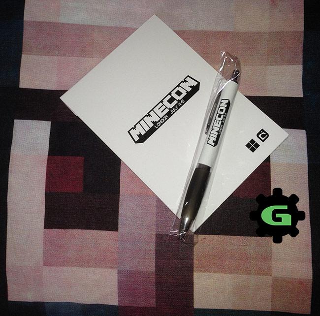 Minecon-Pen and Pad