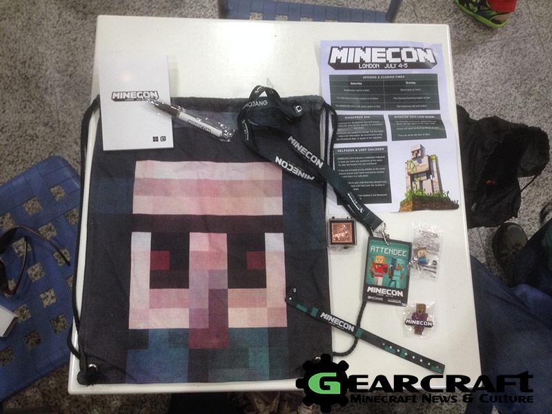 Minecon 2015 Goodie Bag