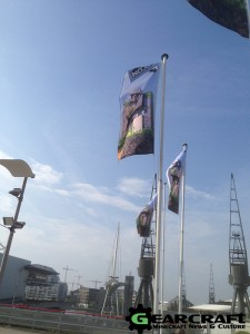 Minecon 2015 Entrance Flags
