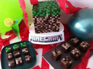 Minecraft Cake: Howtocookthat.net