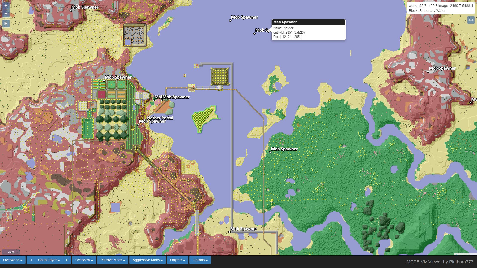 MCPE Viz: Create a Google Like Map For Viewing Your World
