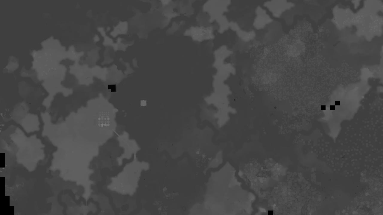 A height map image. Grayscale with darkest being lowest, brightest being highest.